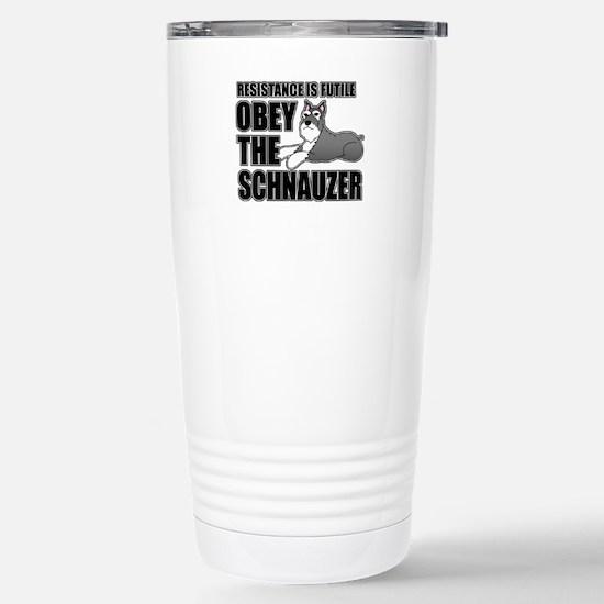 Schnauzer Stainless Steel Travel Mug