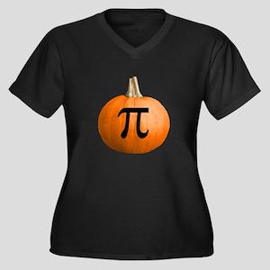 Pumpkin Pie Women's Plus Size V-Neck Dark T-Shirt