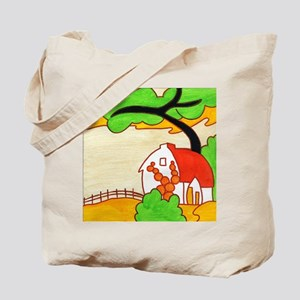 Red Roofs Tote Bag