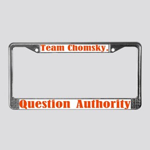 Team Chomsky License Plate Frame