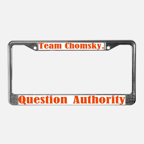 Team Chomsky License Plate Frame