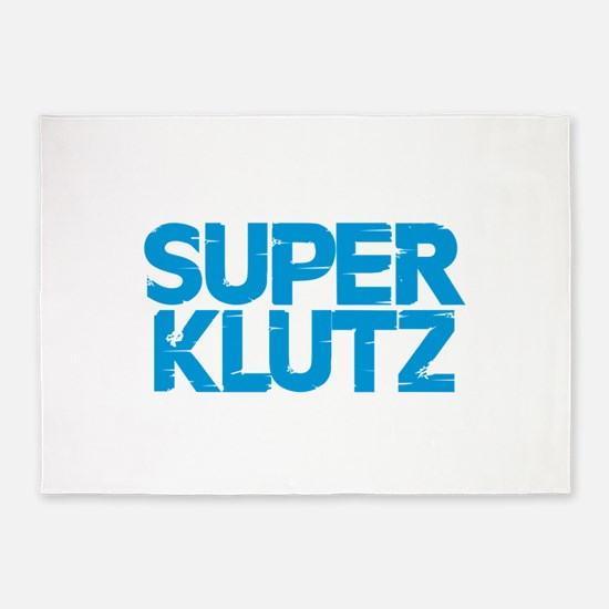 Super Klutz - Blue 5'x7'Area Rug