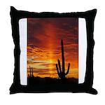 Saquaro Sunset Throw Pillow