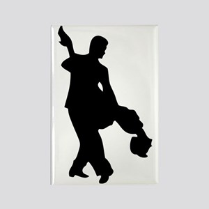 Couple Silhoutte Rectangle Magnet