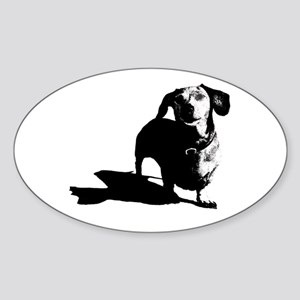 daschund sketch Sticker (Oval)
