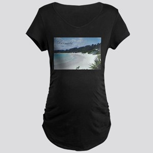 Bermuda Beach Maternity Dark T-Shirt