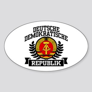 East Germany Coat of Arms Sticker (Oval)