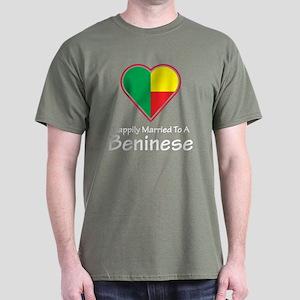 Happily Married Beninese Dark T-Shirt