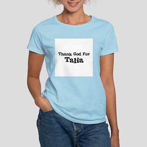 Thank God For Talia Women's Pink T-Shirt