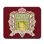 Know It All Garfield Mousepad