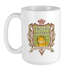 Know It All Garfield Large Mug