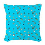 Sea Shells and the Sea Woven Throw Pillow
