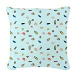Shells and the Sea Woven Throw Pillow