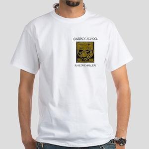Queen's School Rheindahlen 2 White T-Shirt