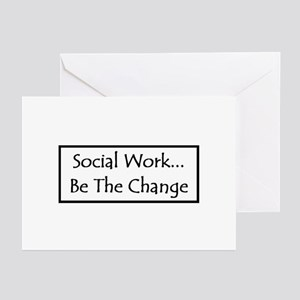 Social Work... Be The Change Greeting Cards (Packa