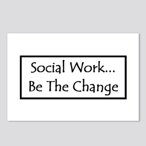 Social Work... Be The Change Postcards (Package of