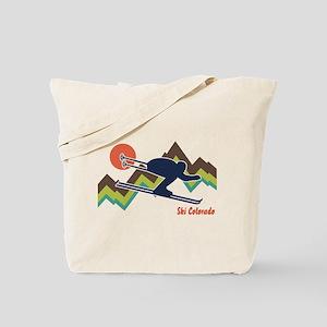 Ski Colorado Tote Bag