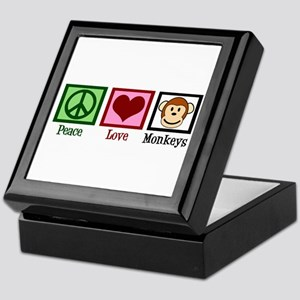 Peace Love Monkeys Keepsake Box