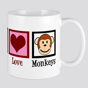 Peace Love Monkeys Mug