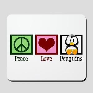 Peace Love Penguins Mousepad