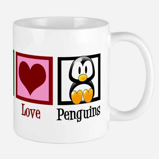 Peace Love Penguins Mug