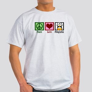 Peace Love Penguins Light T-Shirt