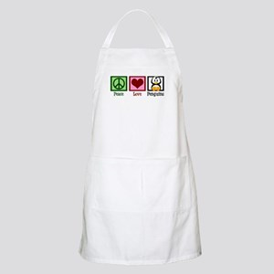 Peace Love Penguins Apron