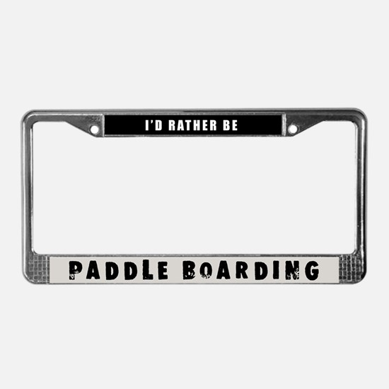 Paddle Boarding License Plate Frame