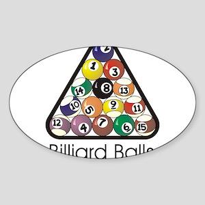 Billard Gear 1 Sticker (Oval)
