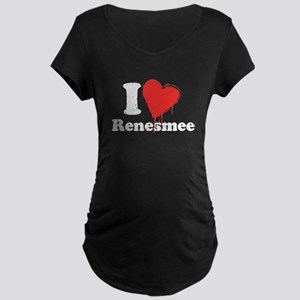 I heart Renesmee Maternity Dark T-Shirt