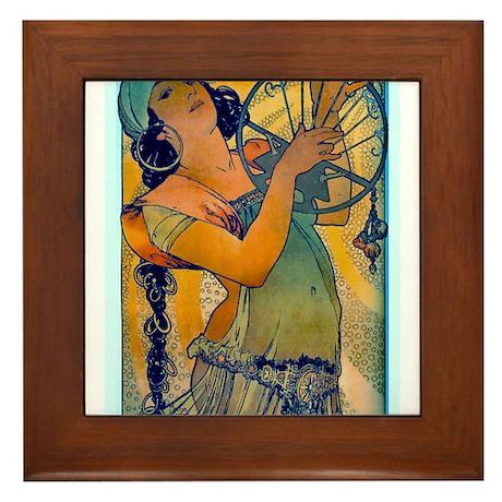 Alphonse Mucha Framed Tile
