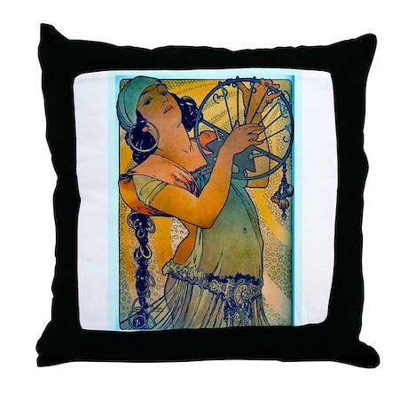 Alphonse Mucha Throw Pillow