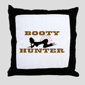 BOOTY HUNTER Throw Pillow