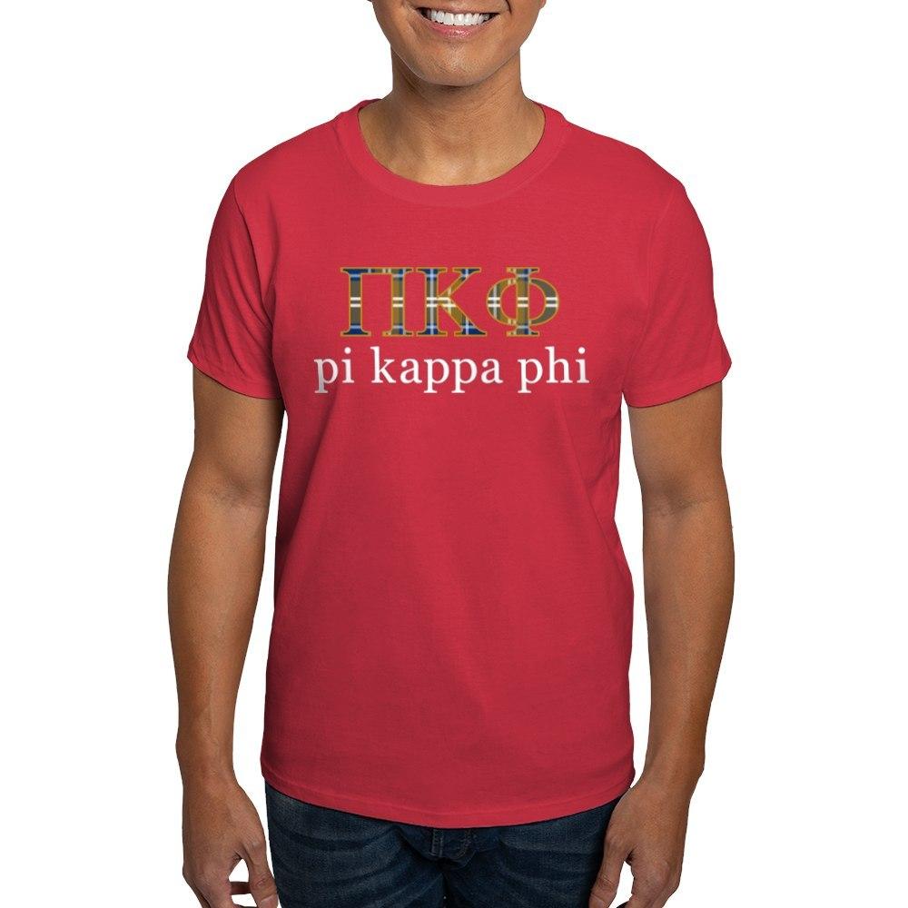 Cafepress Pi Kappa Phi Letters Plaid 100 Cotton T Shirt Ebay