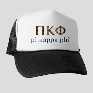 Pi Kappa Phi Letters Plaid Trucker Hat