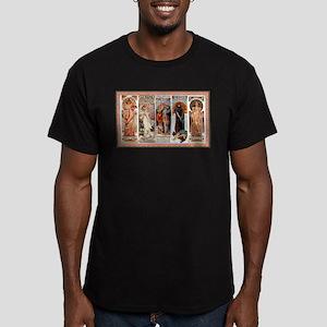 Alphonse Mucha Men's Fitted T-Shirt (dark)