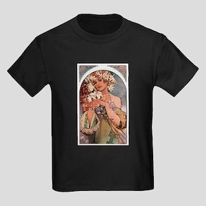 Alphonse Mucha Kids Dark T-Shirt