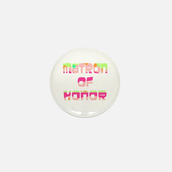 Confetti Matron of Honor Mini Button