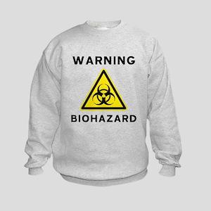 Biohazard Warning Sign Kids Sweatshirt