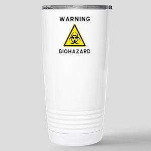Biohazard Warning Sign Stainless Steel Travel Mug