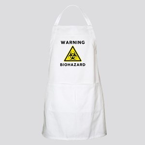 Biohazard Warning Sign Apron