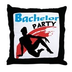 Sexy Bachelor Party Throw Pillow