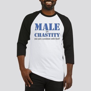 Male in Chastity Baseball Jersey