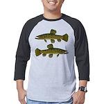 Amazon Wolf fish Trahira Mens Baseball Tee