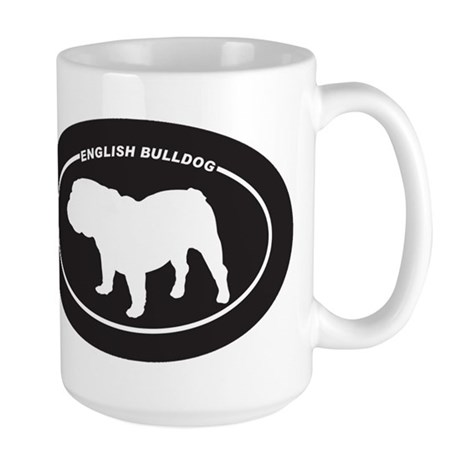 English Bulldog Silhouette Large Mug