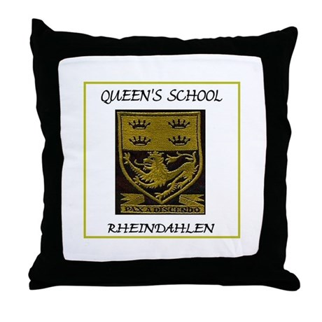 Queen's School Rheindahlen Throw Pillow