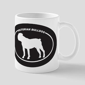 Victorian Bulldog Silhouette Mug