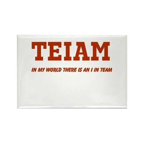 I in Team (no star) Rectangle Magnet