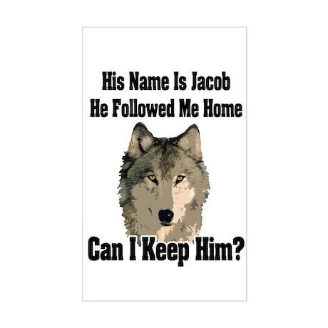 Can I keep him??? Sticker (Rectangle)