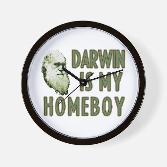Darwin is my Homeboy Wall Clock